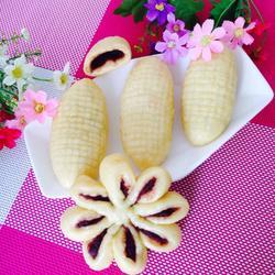玉米豆沙饼