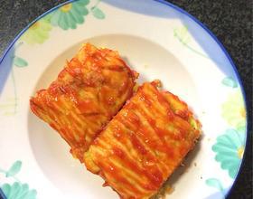 黄瓜肉松番茄酱鸡蛋饼