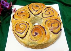 花式紫薯面包