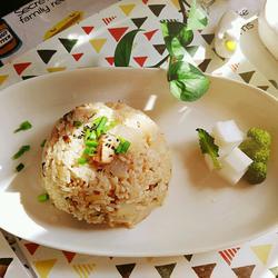 萝卜丁扣肉米饭