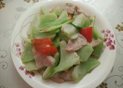 肉片炒包心芥菜