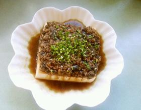 橄榄菜肉末蒸豆腐
