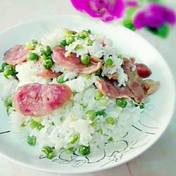 腊肠豌豆饭