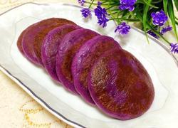 紫薯莲蓉糯米饼