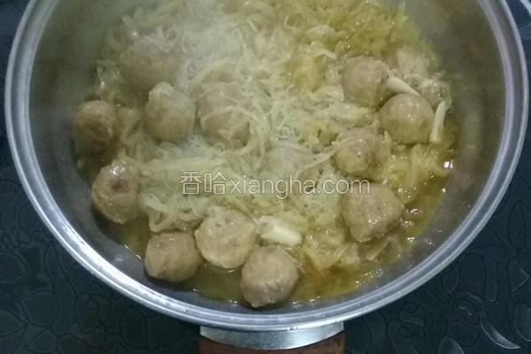 酸菜粉牛肉丸