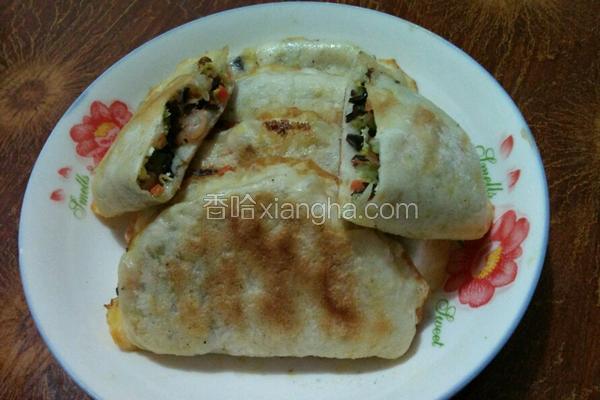 虾仁木耳蔬菜饼