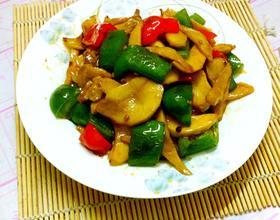 双椒蚝油杏鮑菇