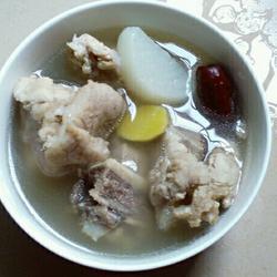 白萝卜骨头汤的做法[图]