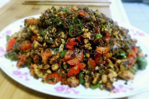 鸡米芽菜的做法