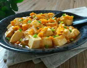 咸蛋黄烧豆腐[图]
