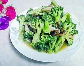 鲜冬菇炒西兰花
