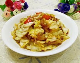 包菜炒五花肉