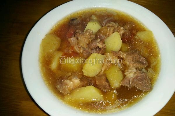 牛腱炖土豆