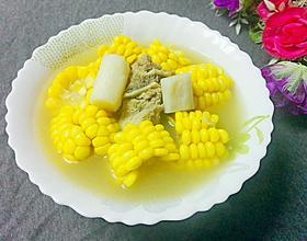 山药玉米板骨汤[图]
