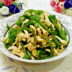 青椒炒鸡丝
