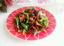 干煸茶树菇肉片
