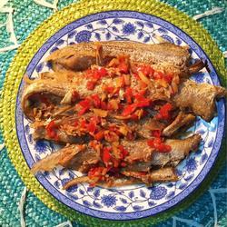 香煎凤尾鱼