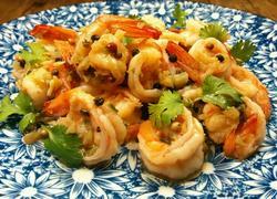 蒜茸胡椒虾