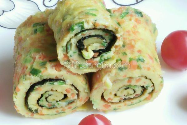 海苔蔬菜鸡蛋饼