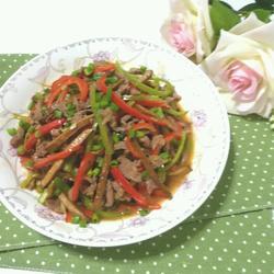 五香豆干炒牛肉