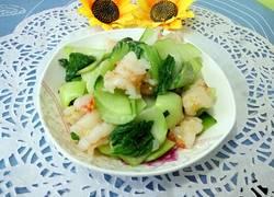 清炒虾仁油菜