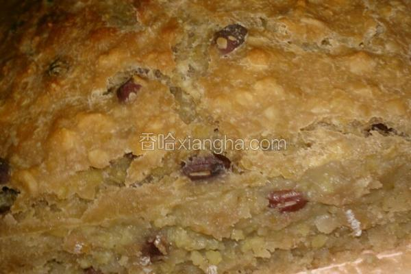 红豆小米鸭蛋糕