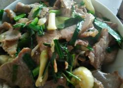 青蒜炒肉片