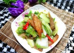 小龙利鱼干炒大白菜