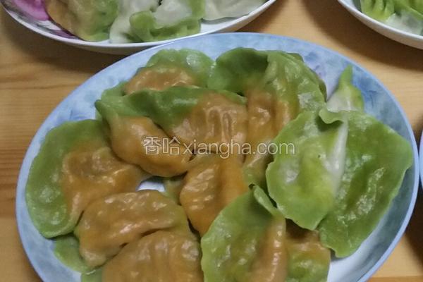 彩色酸菜水饺