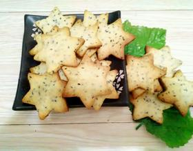 炼乳黑芝麻星星饼干