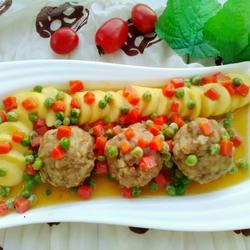 清蒸豆腐狮子