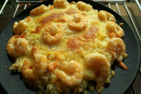 虾仁焗饭的做法