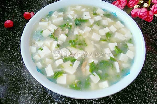 荠菜豆腐汤