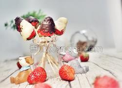 草莓巧克力棒棒糖