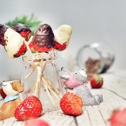 草莓巧克力棒