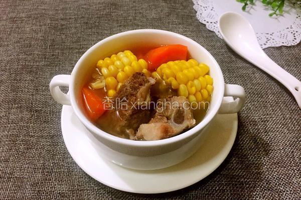 脊骨玉米胡萝卜汤