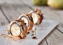 酥到掉渣的面包香蕉卷(无糖无油不用洗锅碗版)