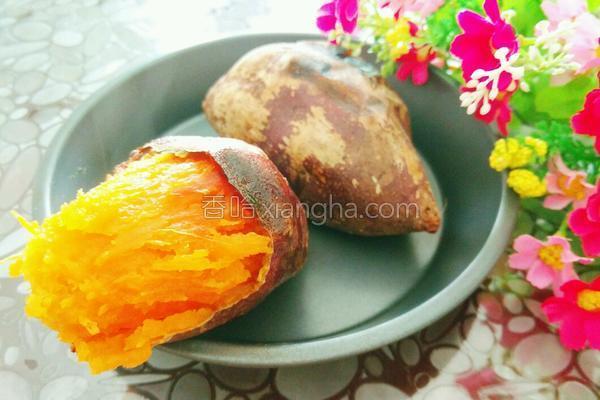 甜香烤红薯的做法