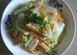 白菜焖腐竹
