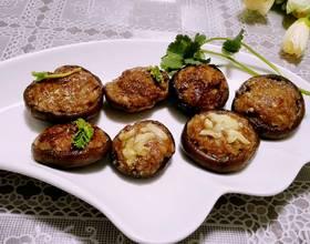 鲜烤香菇酿肉[图]