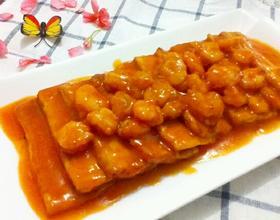 番茄虾仁豆腐