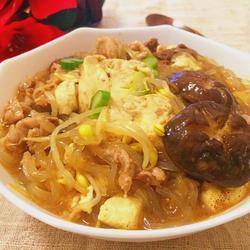 蚝油豆腐粉丝煲