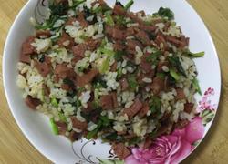 培根菠菜炒饭