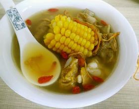 虫草花玉米排骨汤[图]