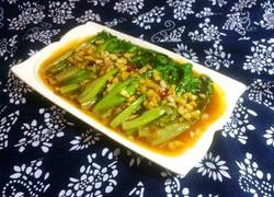 浇汁蚝油生菜