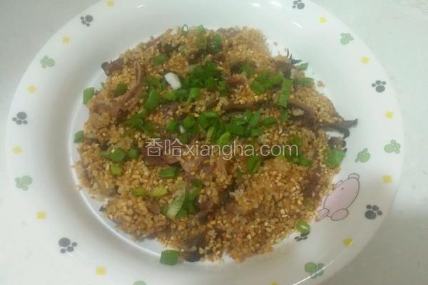 营养米蒸腊肉