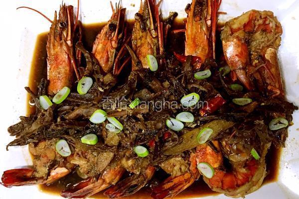梅干菜扣虾