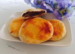 红豆沙馅酥饼