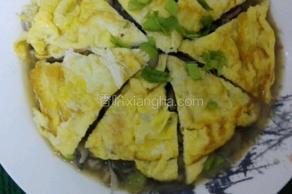 蘑菇鸡蛋饼