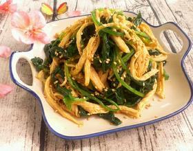 芥末鸡丝拌菠菜[图]